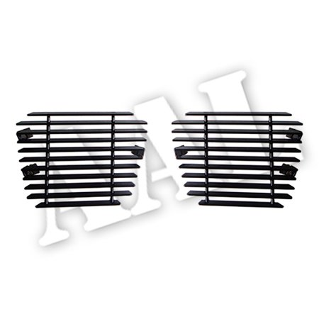 AAL BLACK BILLET GRILLE / GRILL INSERT For 2007 2008 2009 2010 2011 2012 2013 2014 CHEVY Chevrolet AVALANCHE BUMPER 2PCS BOLTON (Not For Z71 Model) BLACK