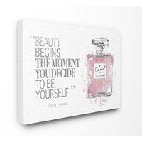 Stupell Beauty Begins Fashion Perfume Canvas Art, 16 x 1.5 x 20