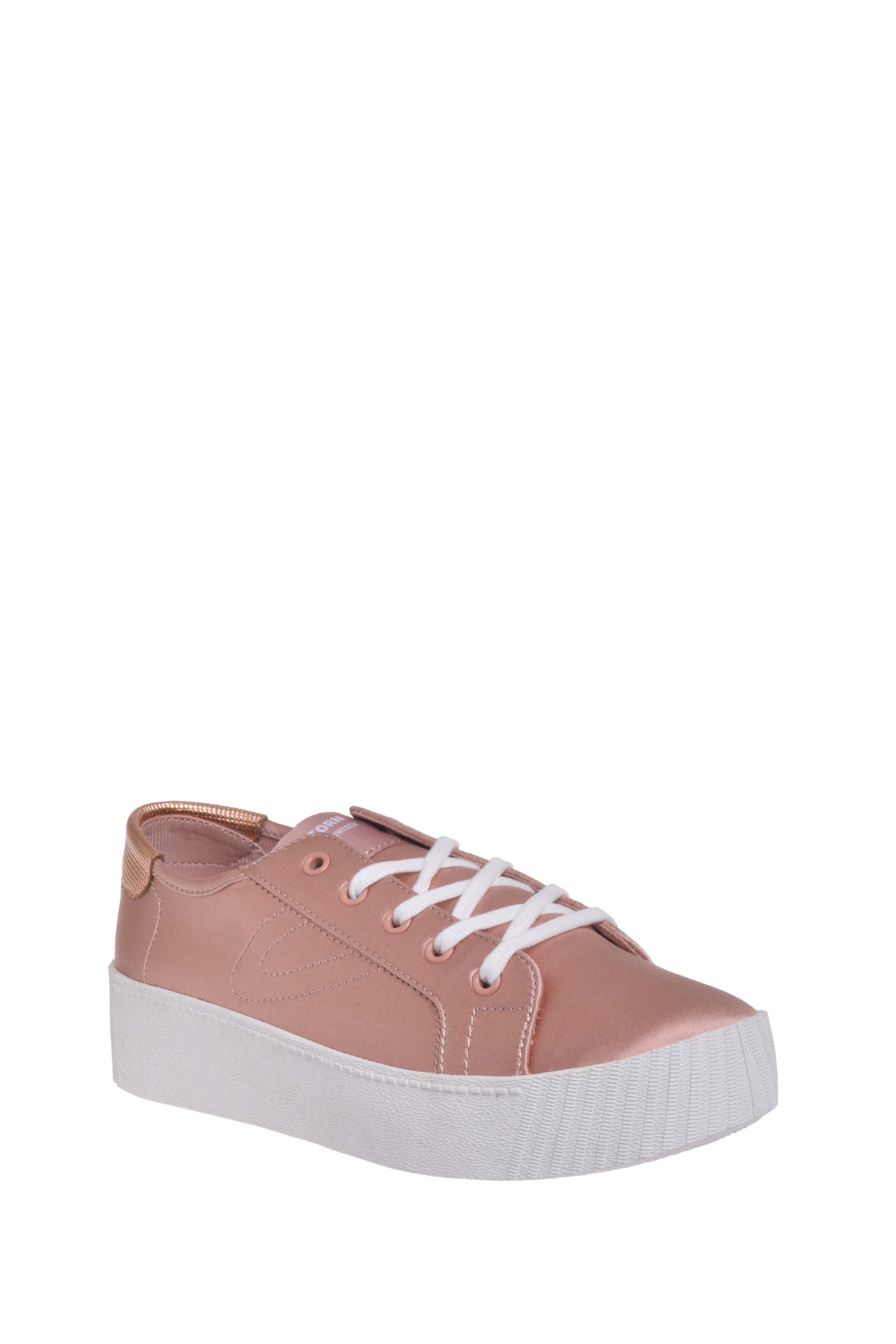 Tretorn W Blaire 7 Platform Sneaker Sand Satin by