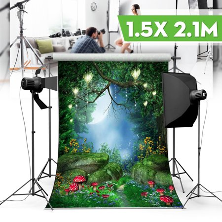 5x7ft Vinyl Photography Background Backdrop Fairytale World Green Forest Theme Studio Photo Cameras Prop