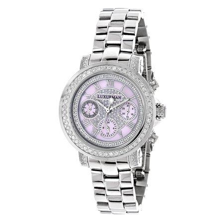 - Women Diamond Watch 2ct Bezel Pink MOP Montana