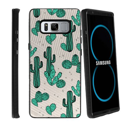 Samsung Galaxy Note 8 Silicone Case With Hybrid Pc Layer  Easy Grip Design For Comfort  Note 8 Sm N950 Hybrid Case For Galaxy Note 8 Phone Case With Drop Resistance   Green Cacti