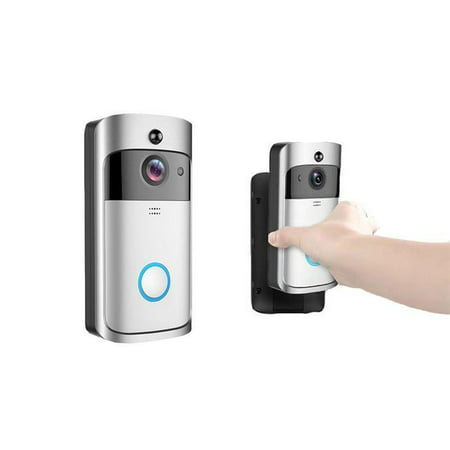VIDEO DOOR BELL - SMART WIRELESS VIDEO DOORBELL HD 720P HOME SECURITY WIFI CAMERA WIDE ANGLE TWO-WAY TALK PHONE APP (Glass Camera App)