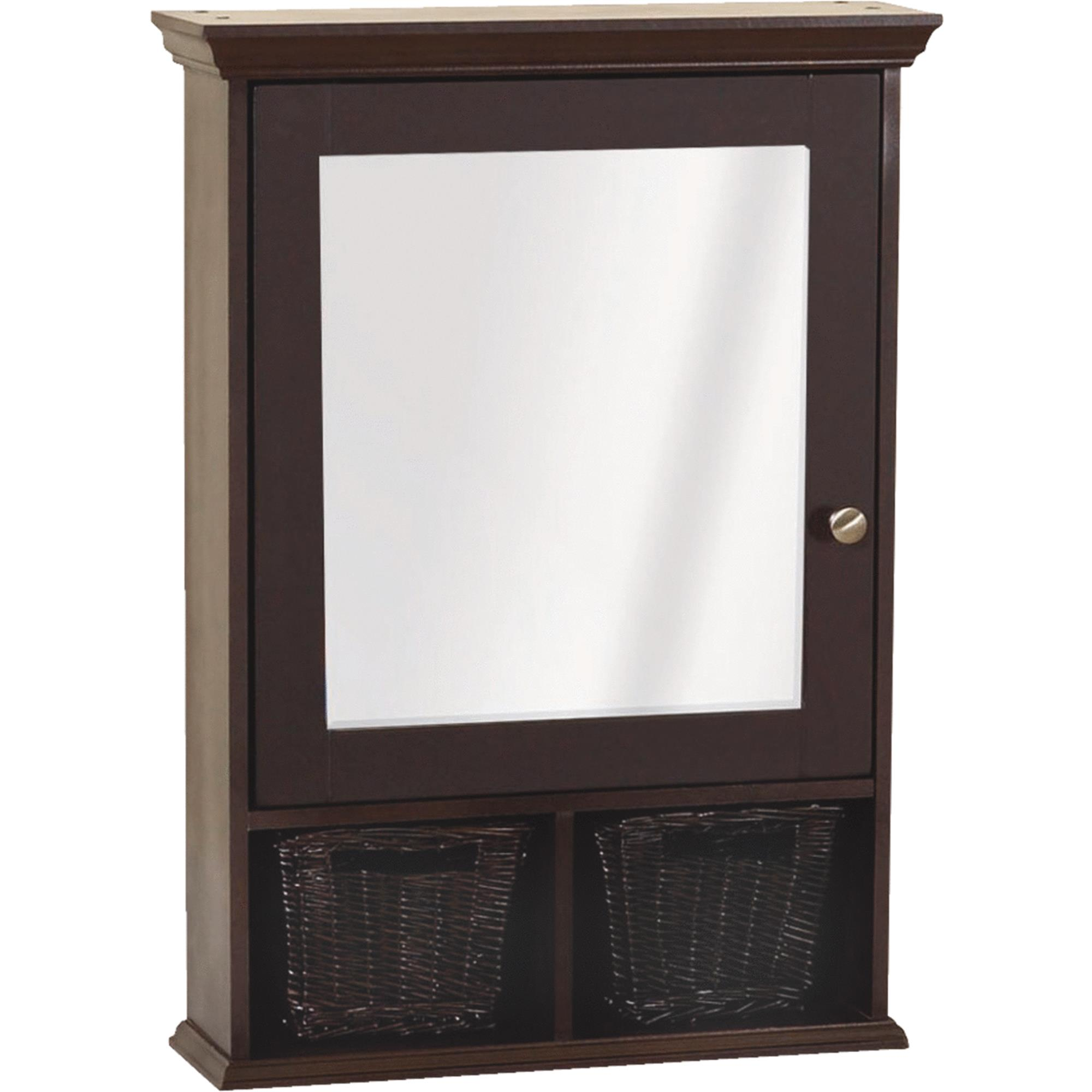 "Zenith TH22CH 21"" x 29"" x 6-1 2"" Medicine Cabinet with Wicker Baskets by Zenith Products"