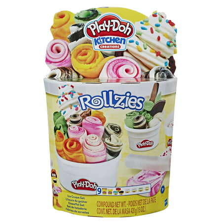 Play-Doh Kitchen Creations Rollzies Rolled Ice Cream Set with 9 Cans