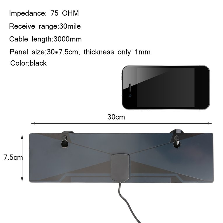 New 20-199/200-499/>500 Pcs Digital TV HDTV Antenna With Amplifier Free Digital And Analogn Signals Received Cable 3000mm