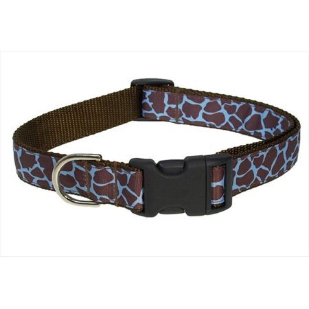 Sassy Dog Wear Giraffe Blue 3 C Giraffe Dog Collar  44  Blue   Brown   Medium
