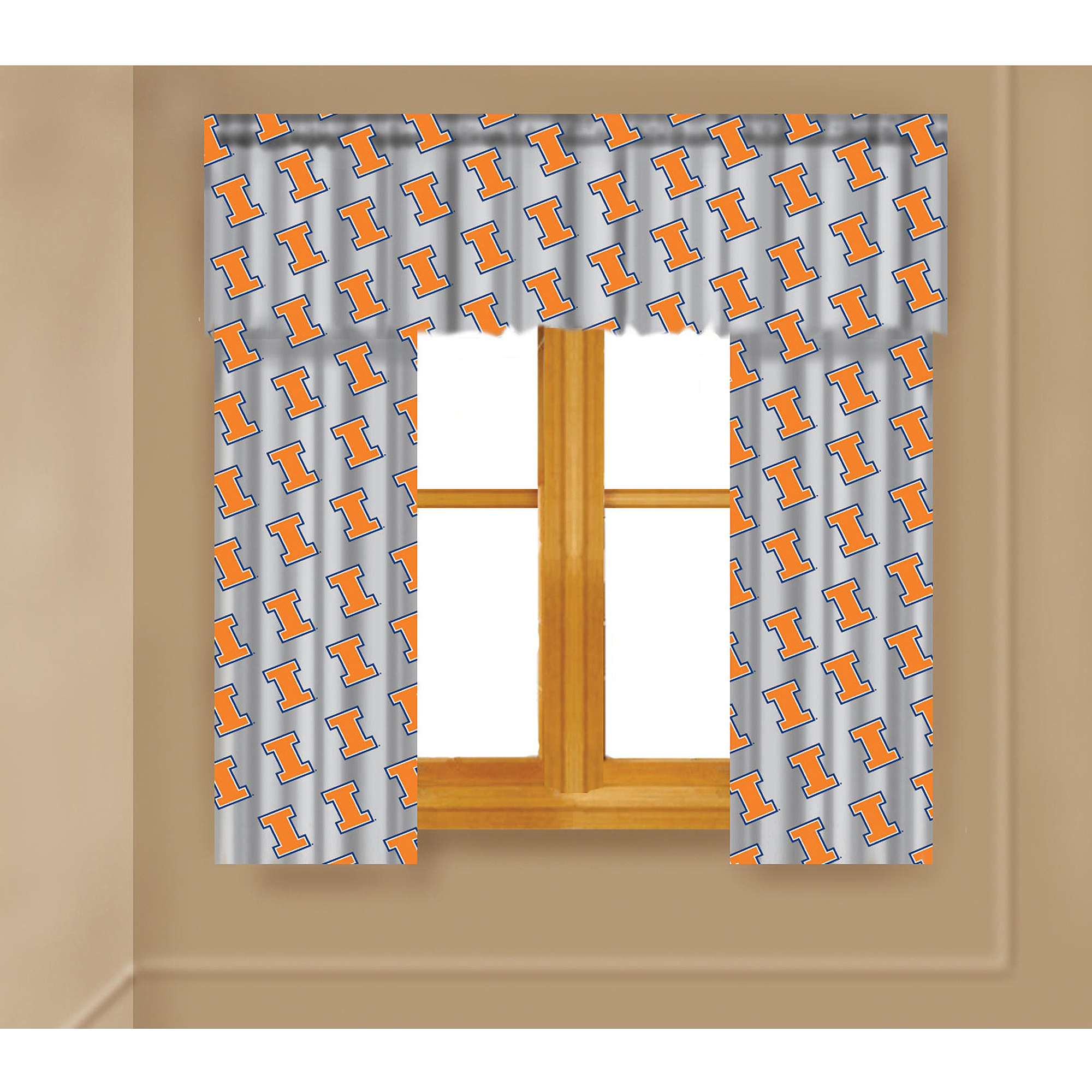 NCAA Illinois Fighting Illini Window Curtain Panels