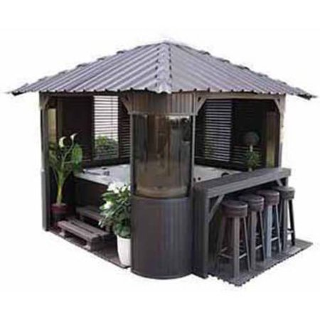 Canadian Spa Co. Fraser Synthetic Gazebo, Coffee