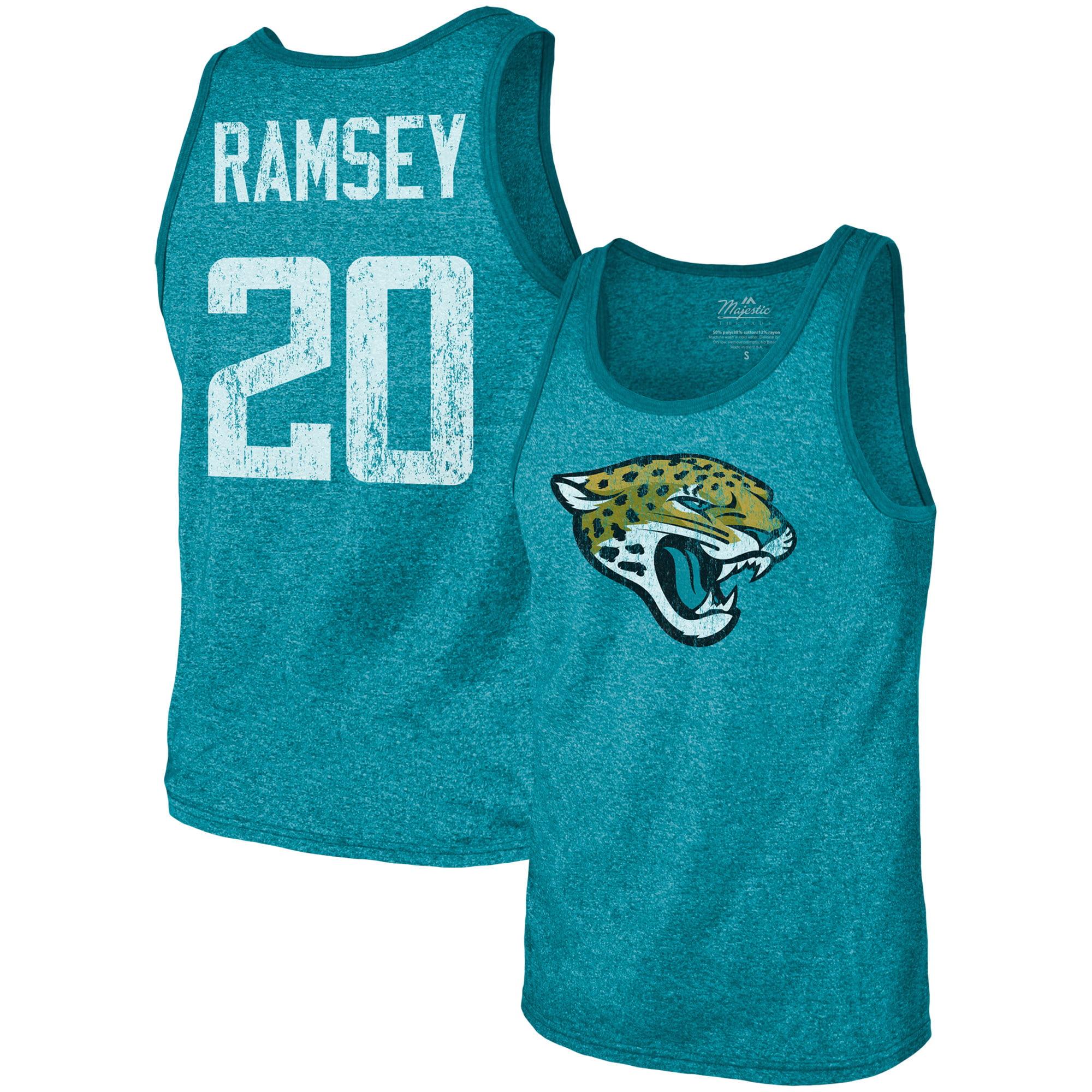 Jalen Ramsey Jacksonville Jaguars Majestic Threads Tri-Blend Name & Number Tank Top - Teal