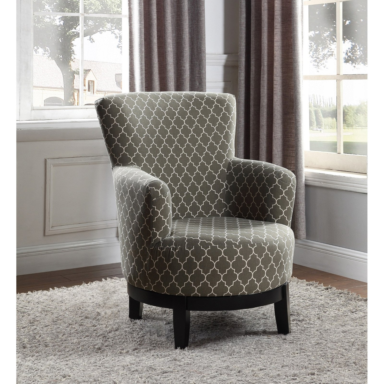 Accent Chair Idras: NH Designs Swivel Print Accent Chair