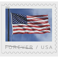 FOREVER 2019 US FLAG BOOK OF 20 STAMPS