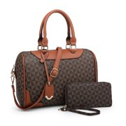 POPPY Women's Satchel Shoulder Bag and Wallet Set Ladies Business Travel Handbag Purse 2 In 1