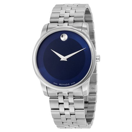 Movado Museum Quartz Metallic Blue Dial Mens Watch 0606982
