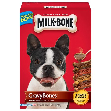 - Milk-Bone Gravy Bones Dog Biscuits, Small, 60 Oz.