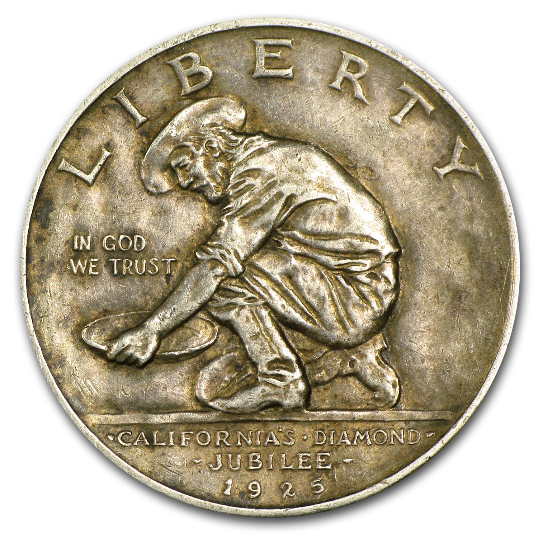 1925 S California Diamond Jubilee Commem Half Xf