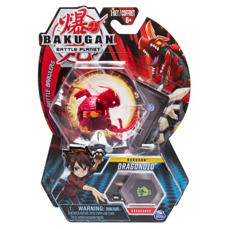 Bakugan, Dragonoid, 2-inch Tall Collectible Action Figure and Trading Card, for Ages 6 and