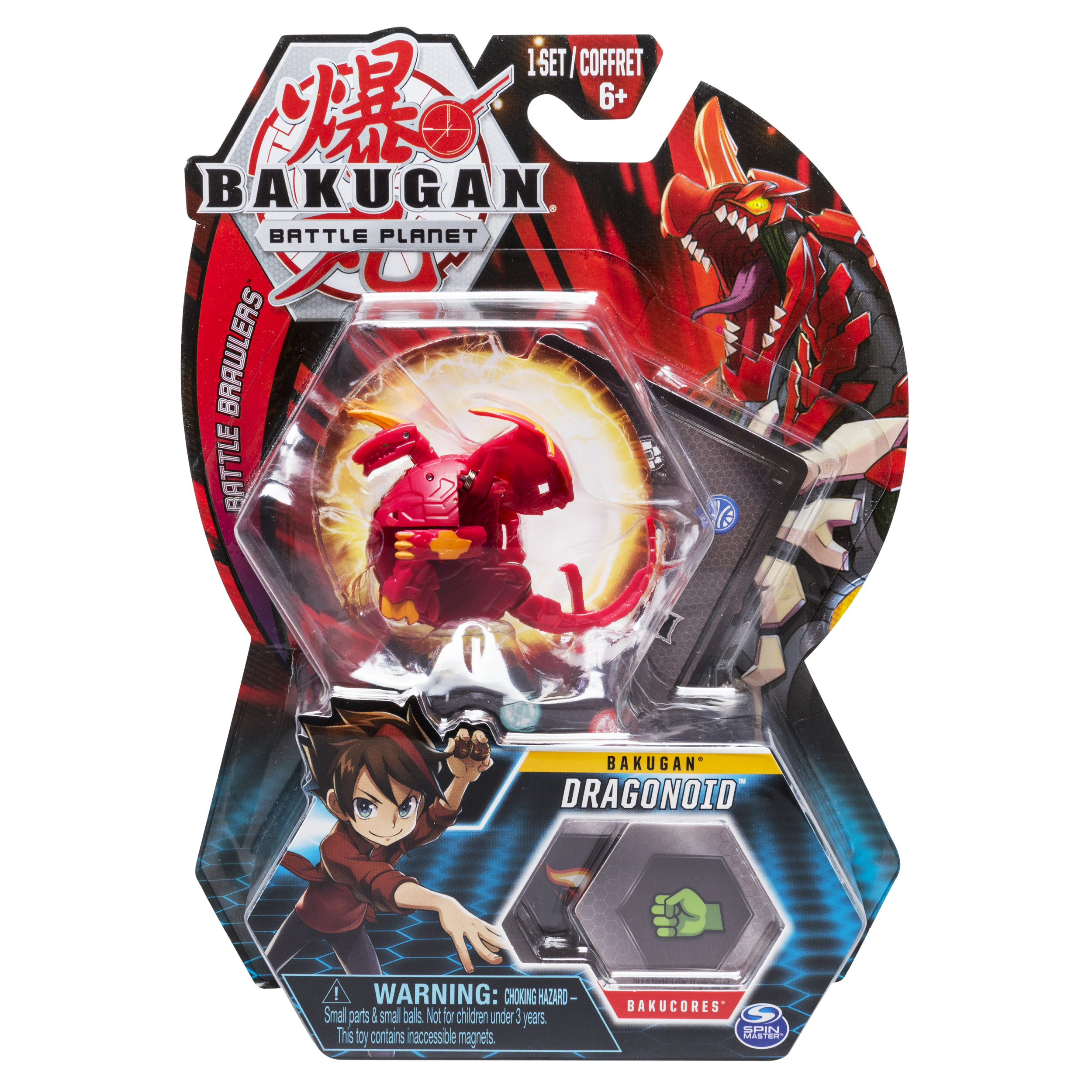 Bakugan, Dragonoid, 2-inch Tall Collectible Transforming Creature, for Ages 6 and Up
