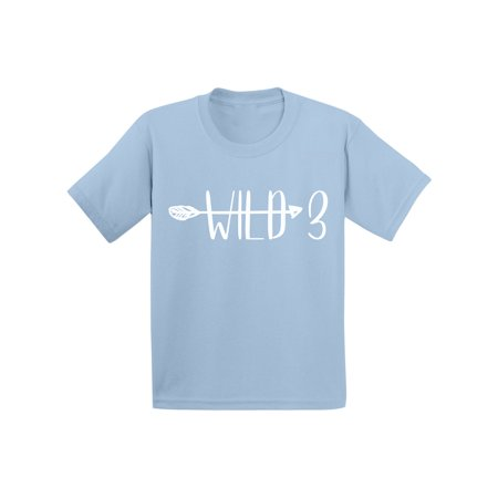 Awkward Styles Birthday Gifts for 3 Year Old Baby Clothes Kids Shirt Birthday Gifts Toddler Shirt for Kids I am 3 Shirts Arrow for Boys Cute Tshirt for Girls B Day Toddler Shirt Kids Party Wild - Presents For 3 Year Old Boy
