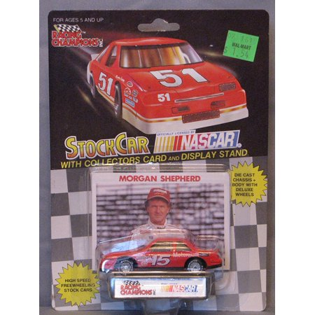 1991 Racing Champions . . . Morgan Shepherd #15 Motorcraft Ford Thunderbird 1/64 Diecast . . . Includes Collector's Card and Display Stand, Morgan shepher diecast By Nascar from USA