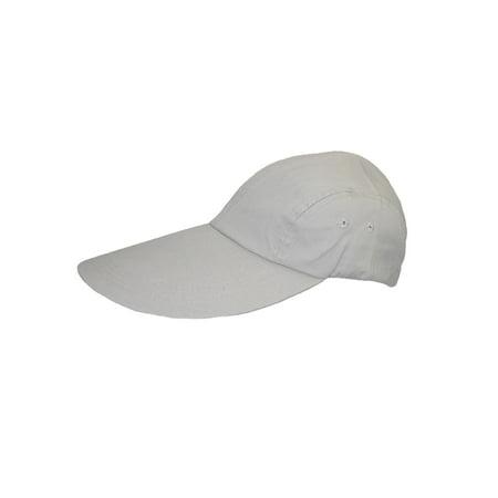 CTM - Size one size Cotton Long 5 Inch Bill Visor Baseball Cap - Walmart.com 0ed73c614be6