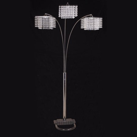 German Crystal Lamp - Ore International Inc. 3-Crystal Inspirational Floor Lamp