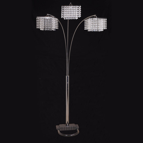 ore inc 3crystal floor lamp