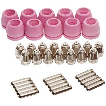 PCON40 40 pcs Lotos Plasma Cutter Consumables Nozzle Electrode and Cup for LTP5000D, LTP5000 LTPDC2000, LTPDC2000D and LTPAC2500