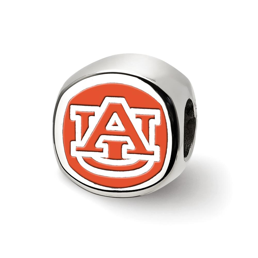 Auburn Primary Cushion Shaped Logo Bead (Sterling Sliver)