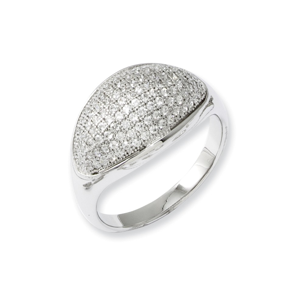 Sterling Silver & CZ Brilliant Embers Polished Ring