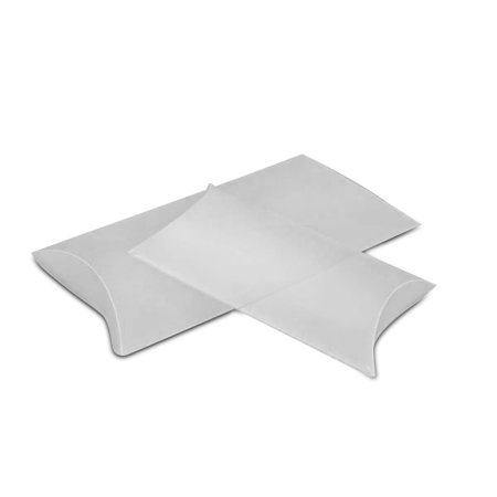 White Frosted Pillow Boxes 3 3/4