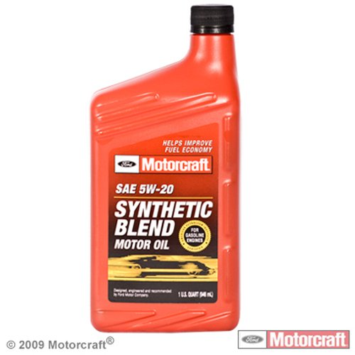 Motorcraft Synthetic Blend Motor Oil, 5W20, 1qt