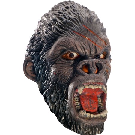 King Kong Mask (King Congo Scary Gorilla 3/4 Adult Costume)