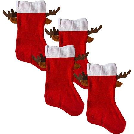 Christmas Red Stocking With Reindeer Antlers (4 Pack)](Diy Reindeer Antlers)