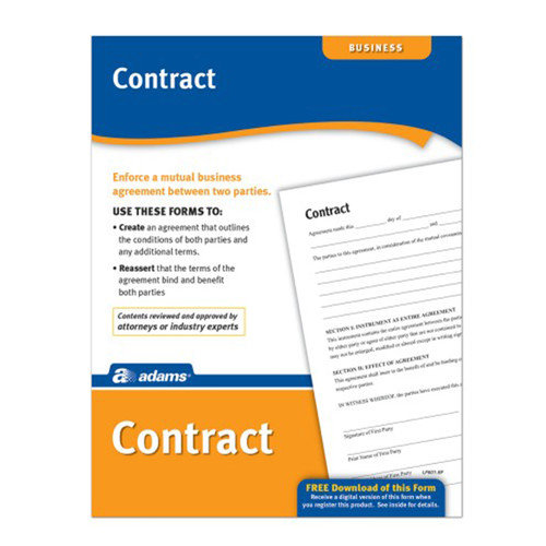 Adams Business Forms Contract Forms and Instruction (Set of 6) (Set of 288)