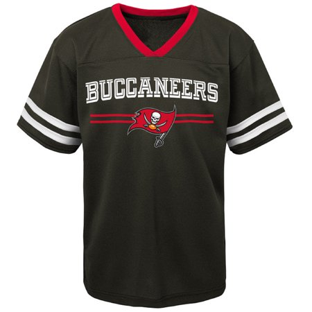 low priced b1821 6e1cd Newborn & Infant Black Tampa Bay Buccaneers Mesh Jersey T ...