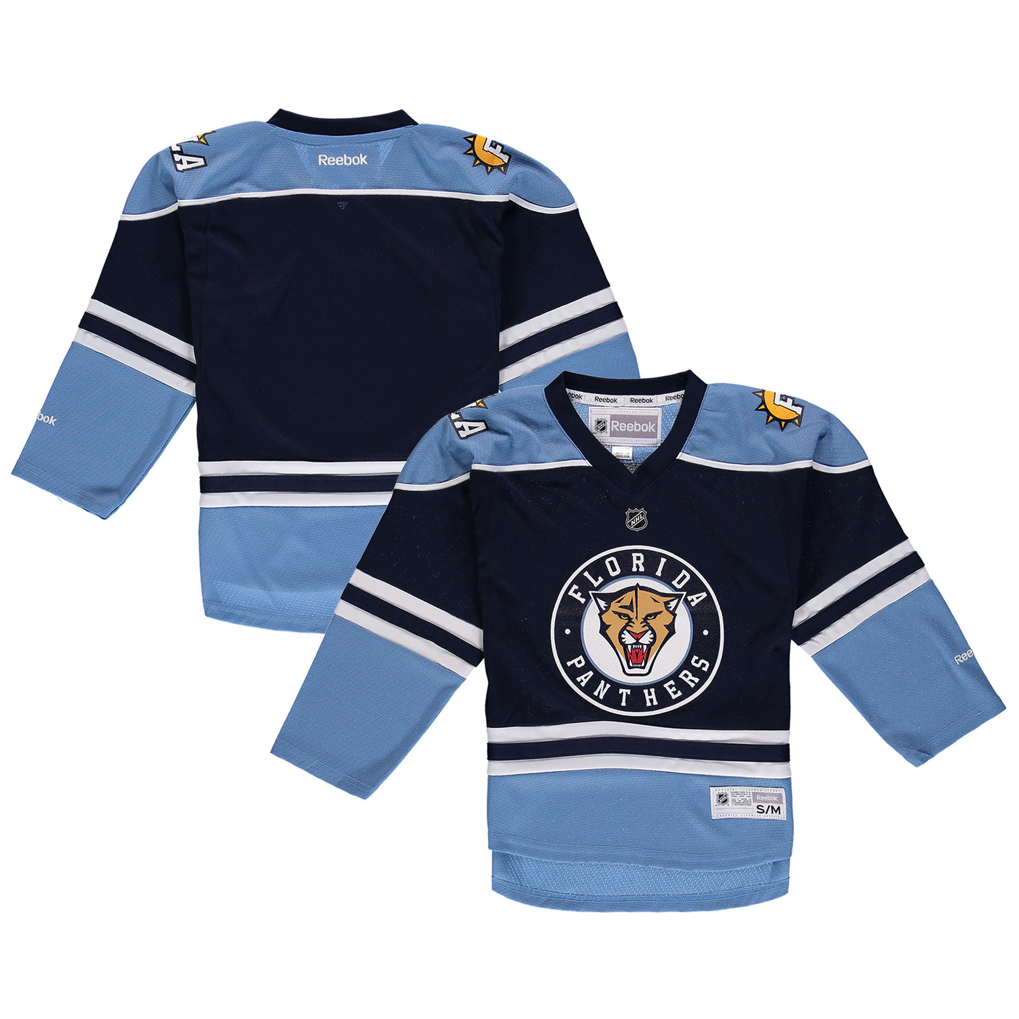 Florida Panthers Reebok Blank Replica Jersey - Navy