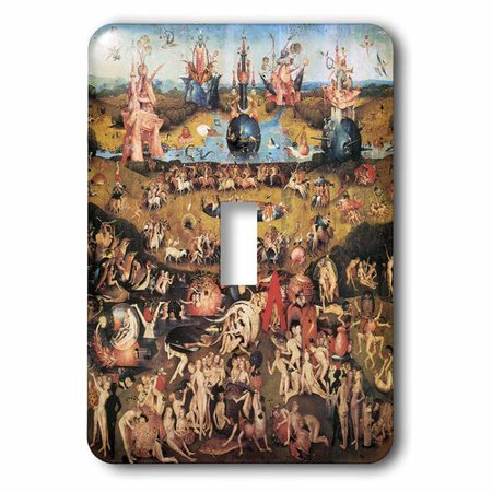 Bosch Plate (3dRose Garden of Earthly Delights by Hieronymus Bosch, Single Toggle Switch)