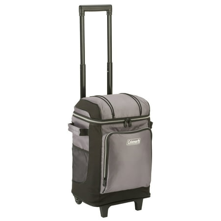 Coleman 42-Can Soft Cooler with Removable Liner & Wheels, Gray