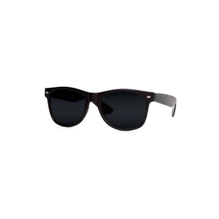 Classic Horn-rimmed Blues Brothers Style Sunglasses - Black ()