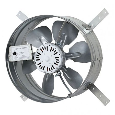 iLIVING Newest Automatic Gable Mount Attic Ventilator Fan with Adjustable Thermostat, 3.10 Amps (Roof Mount Attic Fan)