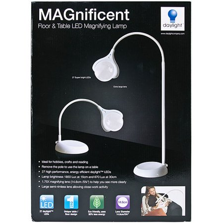 MAGnificent Floor/Table LED Magnifying Lamp-White