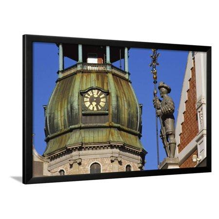 Town Hall Square, Blackheads House, St. Peter's Church, Riga, Latvia Framed Print Wall Art By Dallas and John Heaton