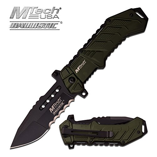 Rogue River Tactical Exclusive Mtech USA Tactical Knives Spring Assisted Folding Pocket Knife Heavy Duty Military Grade... by Rogue River Tactical
