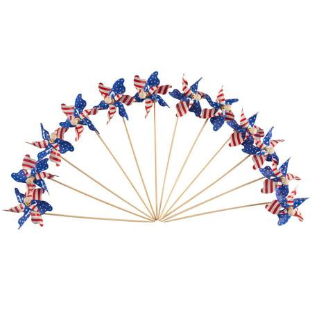 Mini Patriotic Pinwheels, Set of 12](Party Pinwheels)