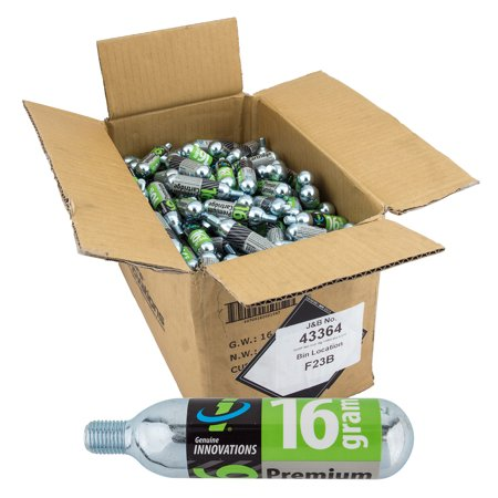 Genuine Innovations, 16g threaded CO2 Cartridges, Box of 270 (Innovations 16g Threaded Cartridges)