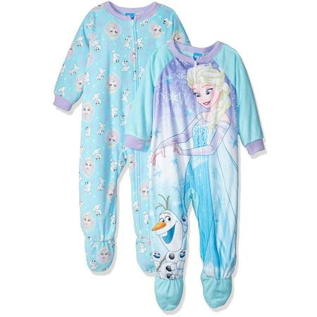 Disney Girls' Frozen Elsa 2-Pack Blanket Sleeper, Blue, Size: - Disney Frozen Clothes For Adults