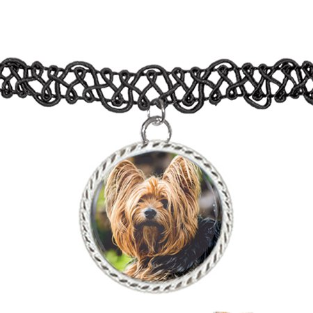 Yorkie yorkshire terrier dog puppy choker pendant charm necklace yorkie yorkshire terrier dog puppy choker pendant charm necklace aloadofball Image collections