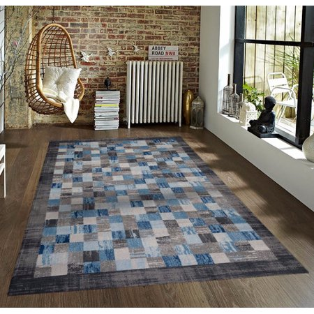 Persian-rugs Tobis Gray/Blue Indoor/Outdoor Area Rug