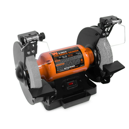 WEN 4.8-Amp 8-Inch Bench Grinder With Led Work Lights And Quenching Tray,